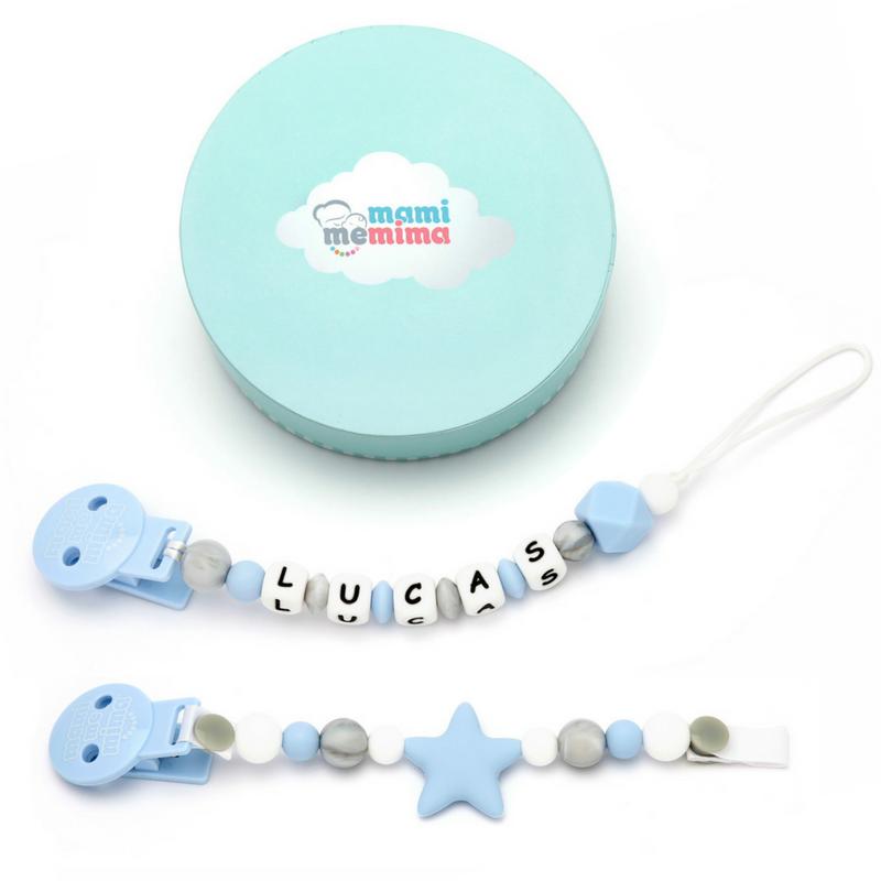 Pack 2 Chupeteros - Sweet Blue Personalizado & Sweet Blue Star