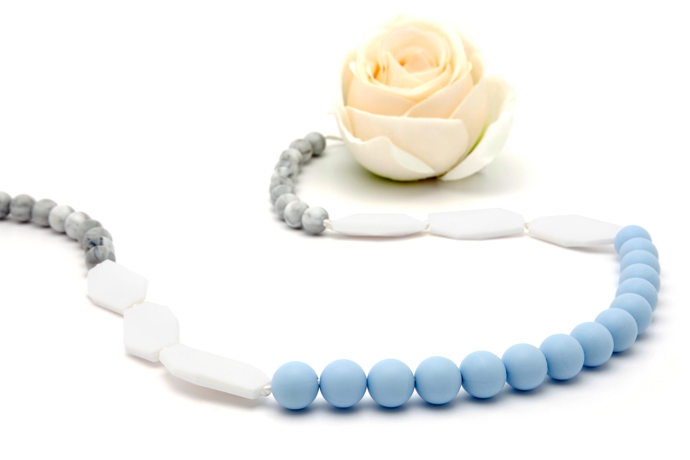Collar de Lactancia Mordedor Silicona Sweet Blue
