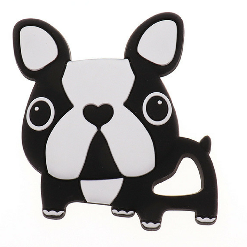 Mordedor Silicona Frenchie Bulldog Black&White