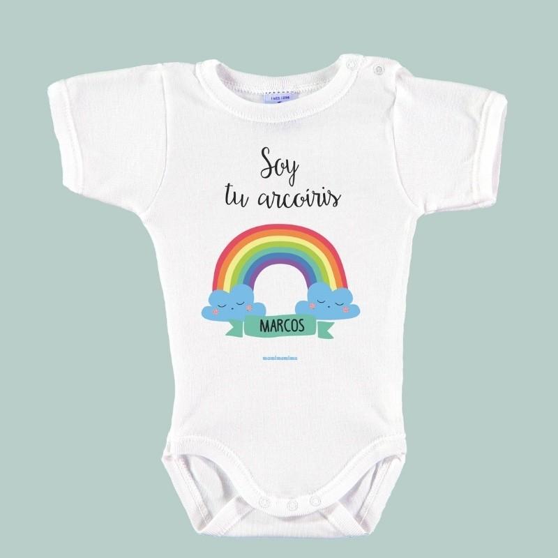 """Body Bebé Personalizado con Nombre """"Soy tu Arco-Iris"""""""