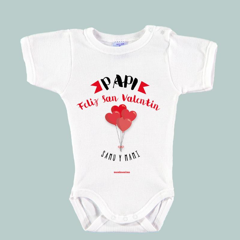 """Body Bebé Personalizado """"Feliz San Valentín Papi"""""""