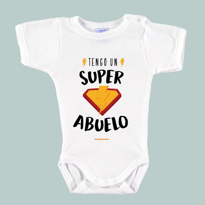"""Body Bebé Frases Abuelo """"Tengo Un Súper Abuelo"""""""