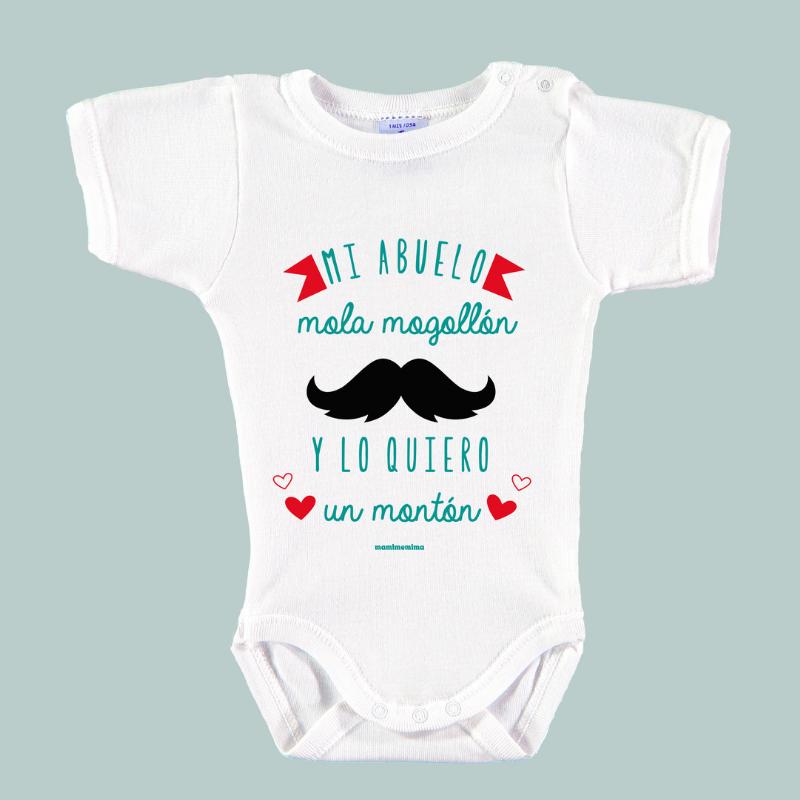 """Body Bebé Frases Abuelo """"Mi Abuelo Mola Mogollón Y Lo Quiero Un Montón"""""""