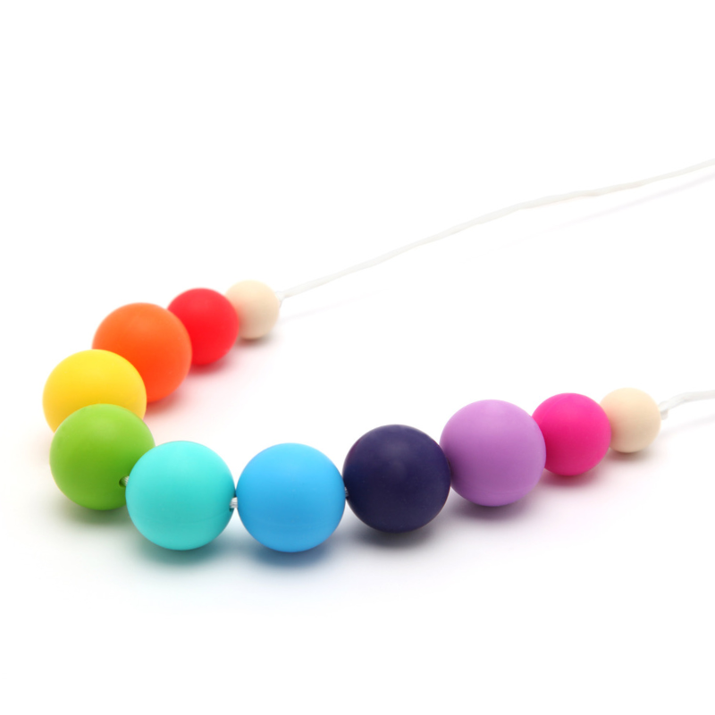 Collar de Lactancia Mordedor Silicona Rainbow