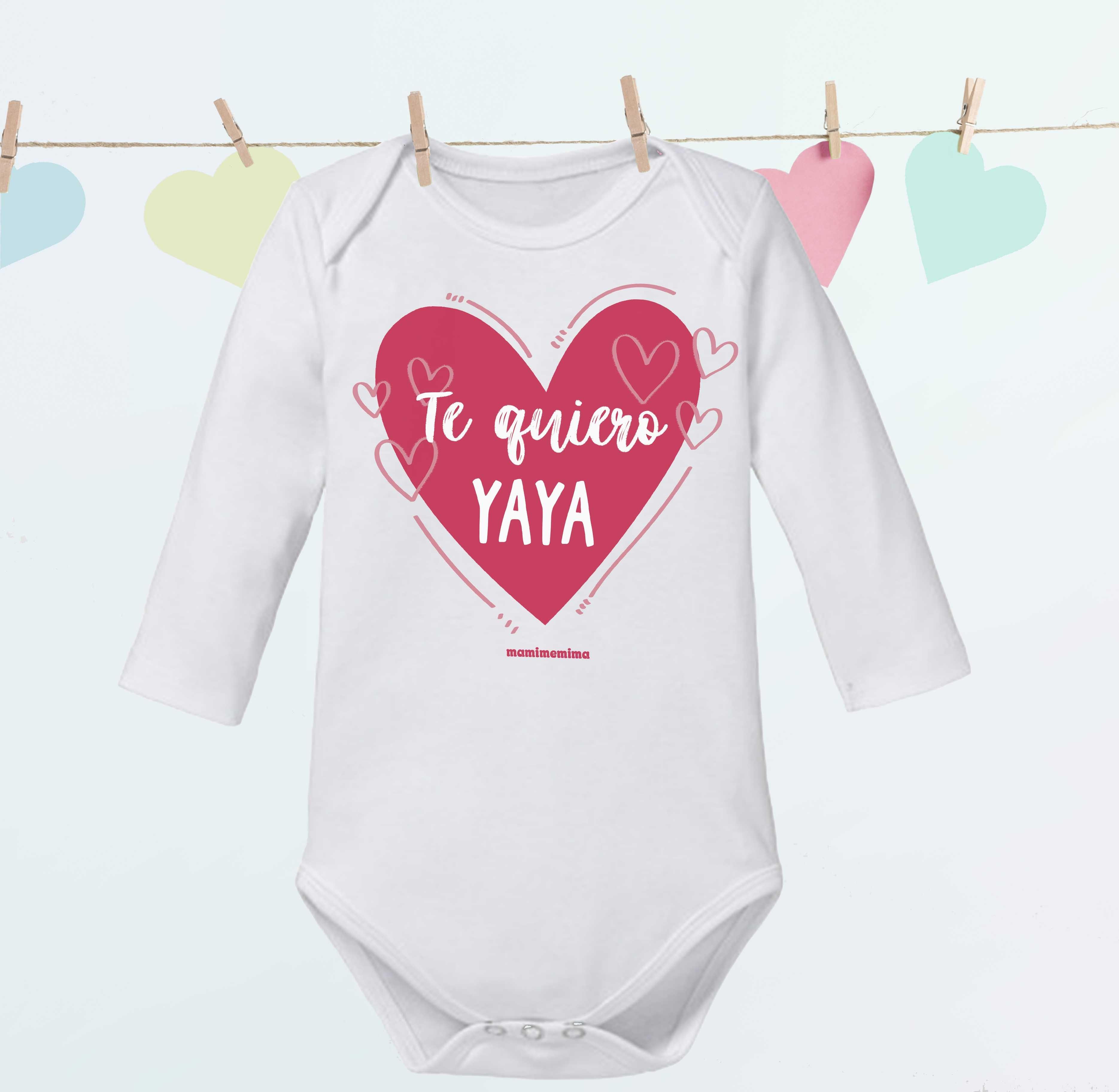 """Body Bebé Frases Abuela """"Te Quiero Yaya"""""""