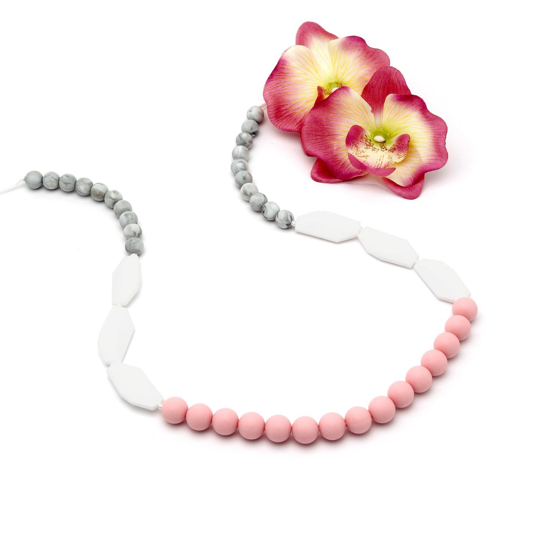 Collar de Lactancia Mordedor Silicona Sweet Pink