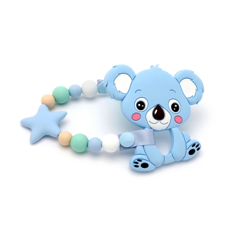 Pack Mordedor Koala + Sujeta Chupetes Mordedor Star Blue&Mint