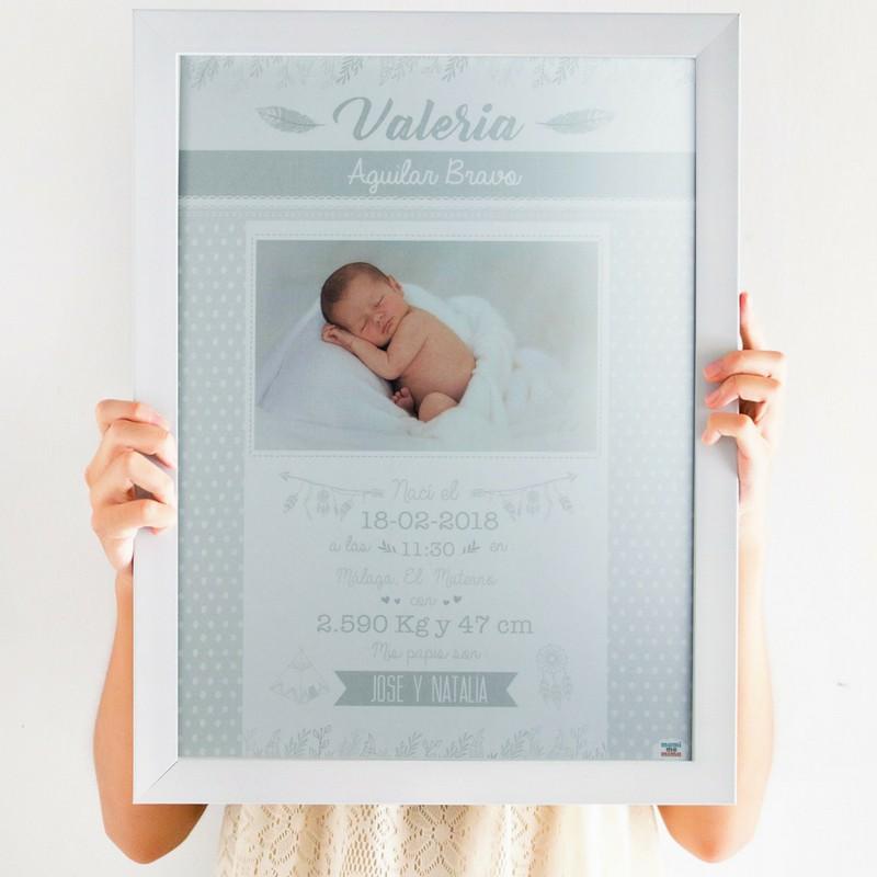 Poster Nascimento Cinzento com fotografia