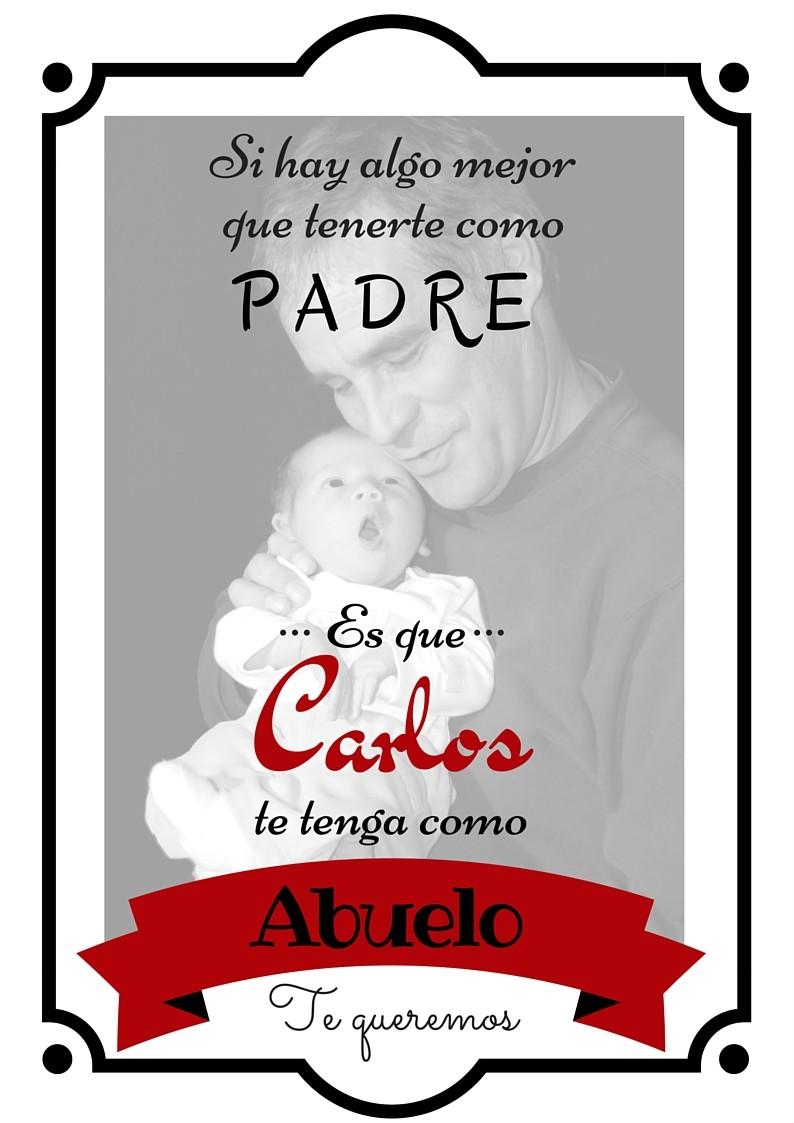 Lámina Dedicatoria Día Del Padre Para Abuelos