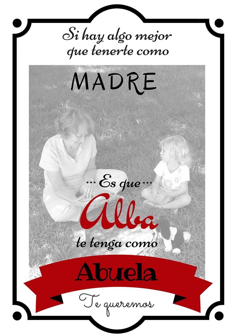 Lámina Dedicatoria Día De La Madre Para Abuelas