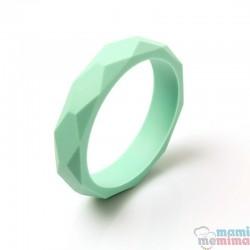 Braccialetto Anello Dentizione Silicone Mint