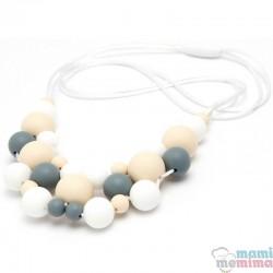 Collana da Allattamento Massaggiagengive Jewelry Grey