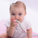 Oggetto Ciucci anello Dentizione su ordinazione del Silicone di Dolce Rosa