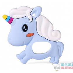 Massaggiagengive Silicone Unicorno Blu