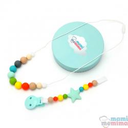 Conjunto Collar Mordedor y Chupetero Mordedor Modelo Multicolor