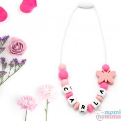 Collar Mordedor Silicona Para Niñ@s Modelo Mini Multicolor
