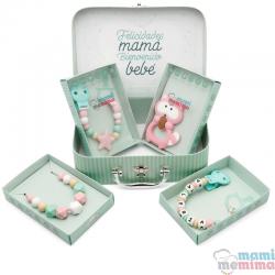 Cesta de Nascimento Mãe e Bebê Pink&Mint |Parabéns Mãe, bem-vindo bebê
