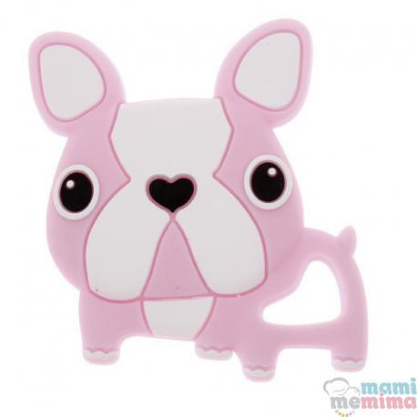 Mordedor Silicone Frenchie Bulldog Rosa