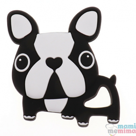 Mordedor Silicone Frenchie Bulldog Black&White