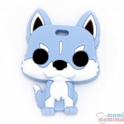 Mordedor Silicone Husky Azul