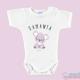 """Body Bebê Personalizado com o Nome """"Koala Rosa"""""""