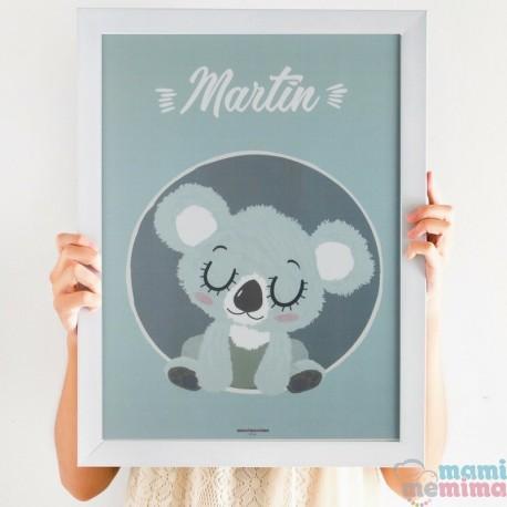 "Poster Infantil Personalizado ""Koala Azul"""