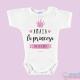 """Body Bebê Personalizado com o Nome """"Princesa da Casa"""""""