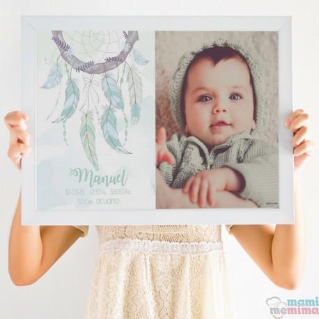 Poster Nascimento Mint com fotografia