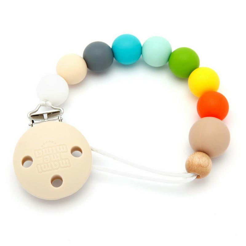 Sujeta Chupetes Mordedor Silicona Modelo Multicolor