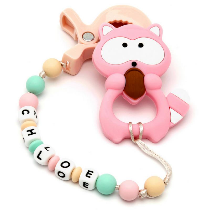 Pacote Brinquedo Mordedor Carrinho Personalizado e Mordedor Guaxinin Pink