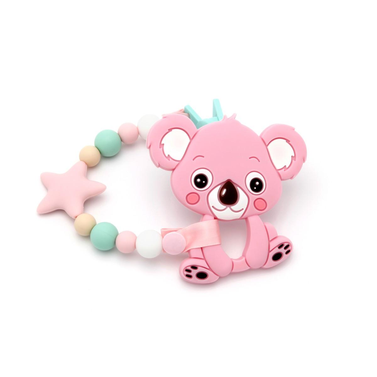 Pacote de Presente Com Tira de Chucha Star Pink&Mint e Mordedor Koala