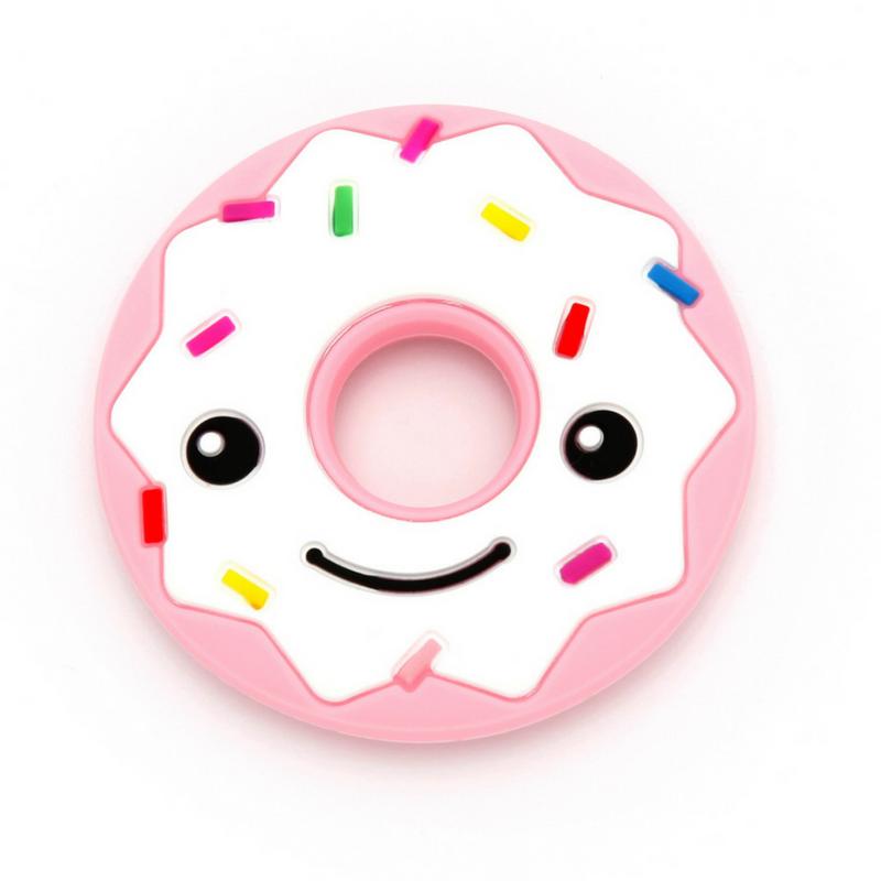 Mordedor Silicone Donuts Smile Rosa